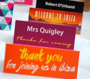personalised wedding place name cards
