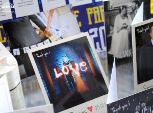 polaroid love wedding thank you card