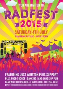 Radfest Festival Birthday Party Invites