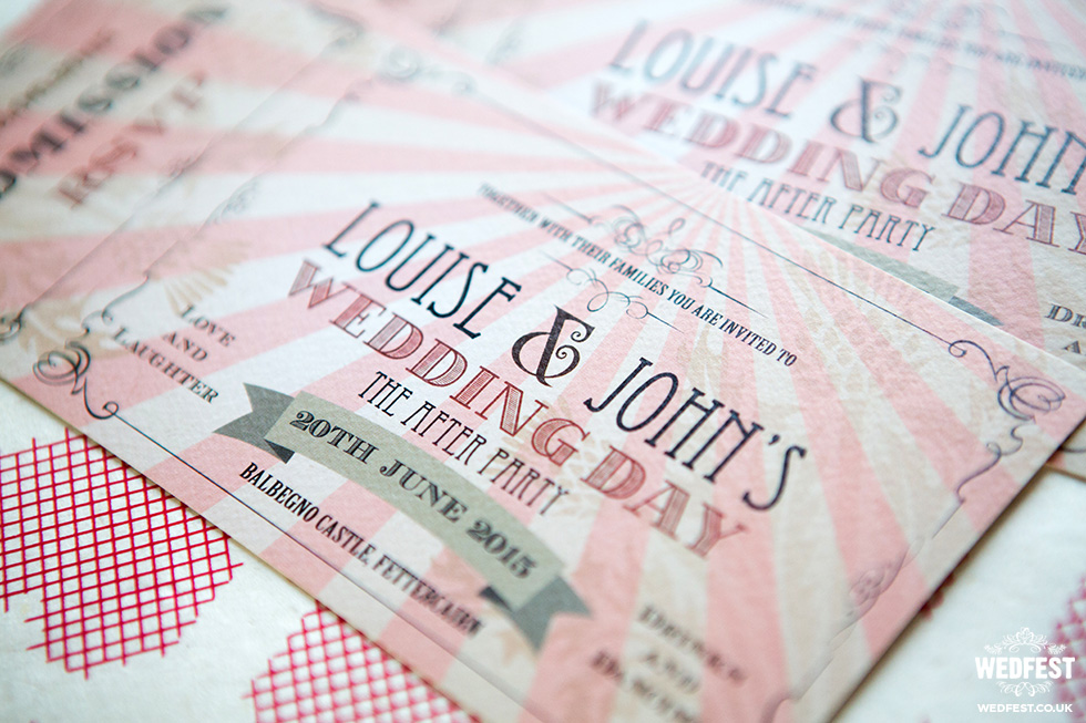 vintage ticket wedding invite from wedfest