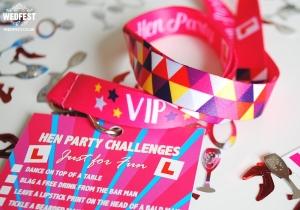 vip hen weekend challenge lanyards