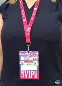 wedfest hen party lanyard