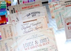 wedfest vintage ticket wedding invites