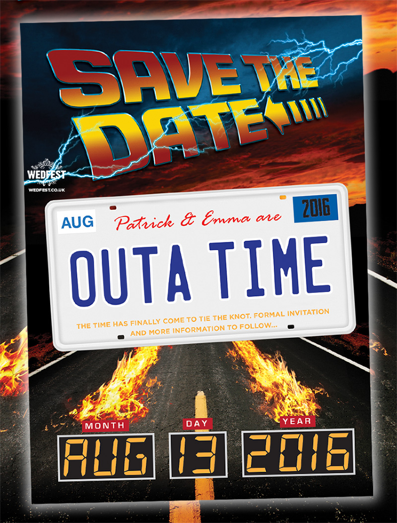 Back to the Future Wedding Save The Date