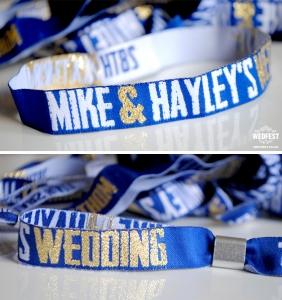 gig concert wristbands wedding favours