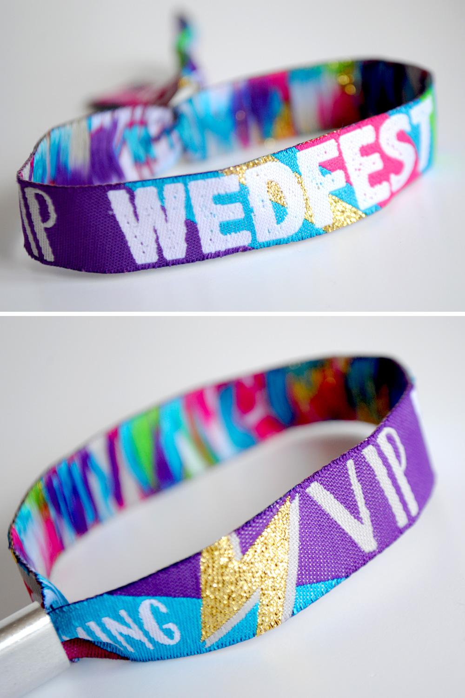 wedfest wedding wristband