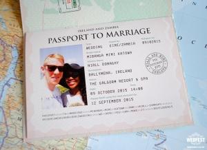 Personalised Passport Wedding Invitations