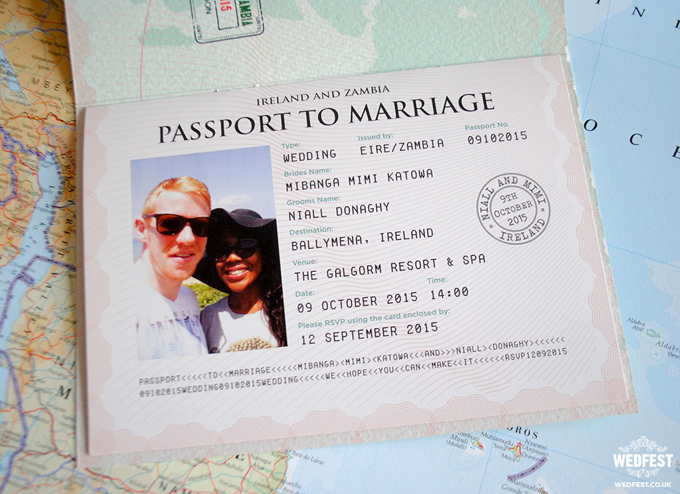 Personalised Passport Wedding Invitations