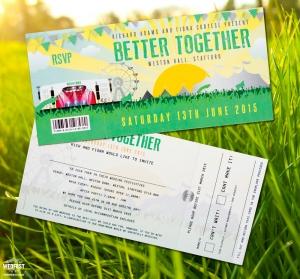 better together festival wedding invitation