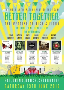 better together music wedding seating plan