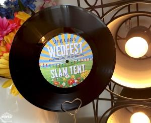 festival wedding vinyl record table name