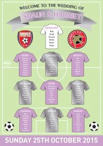 football wedding seating plan