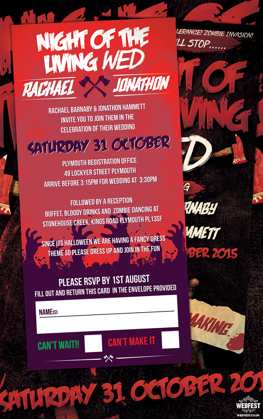 Halloween Wedding Invitations | WEDFEST