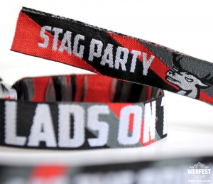 lads on tour stag wristbands