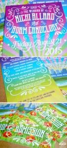 music festival wedding invitations