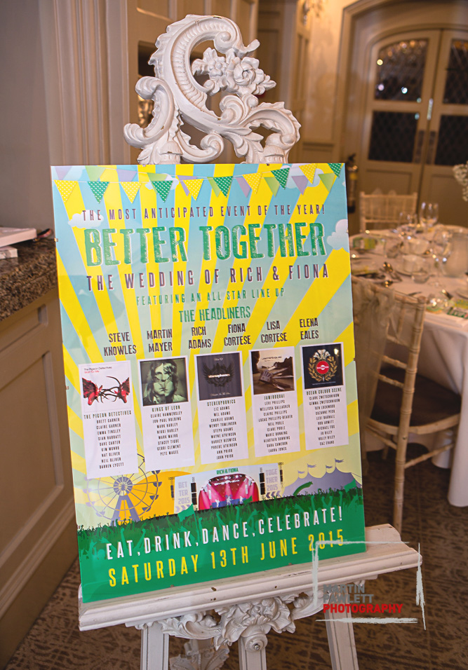 music festival wedding table plan