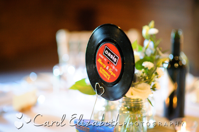 oasis vinyl record wedding