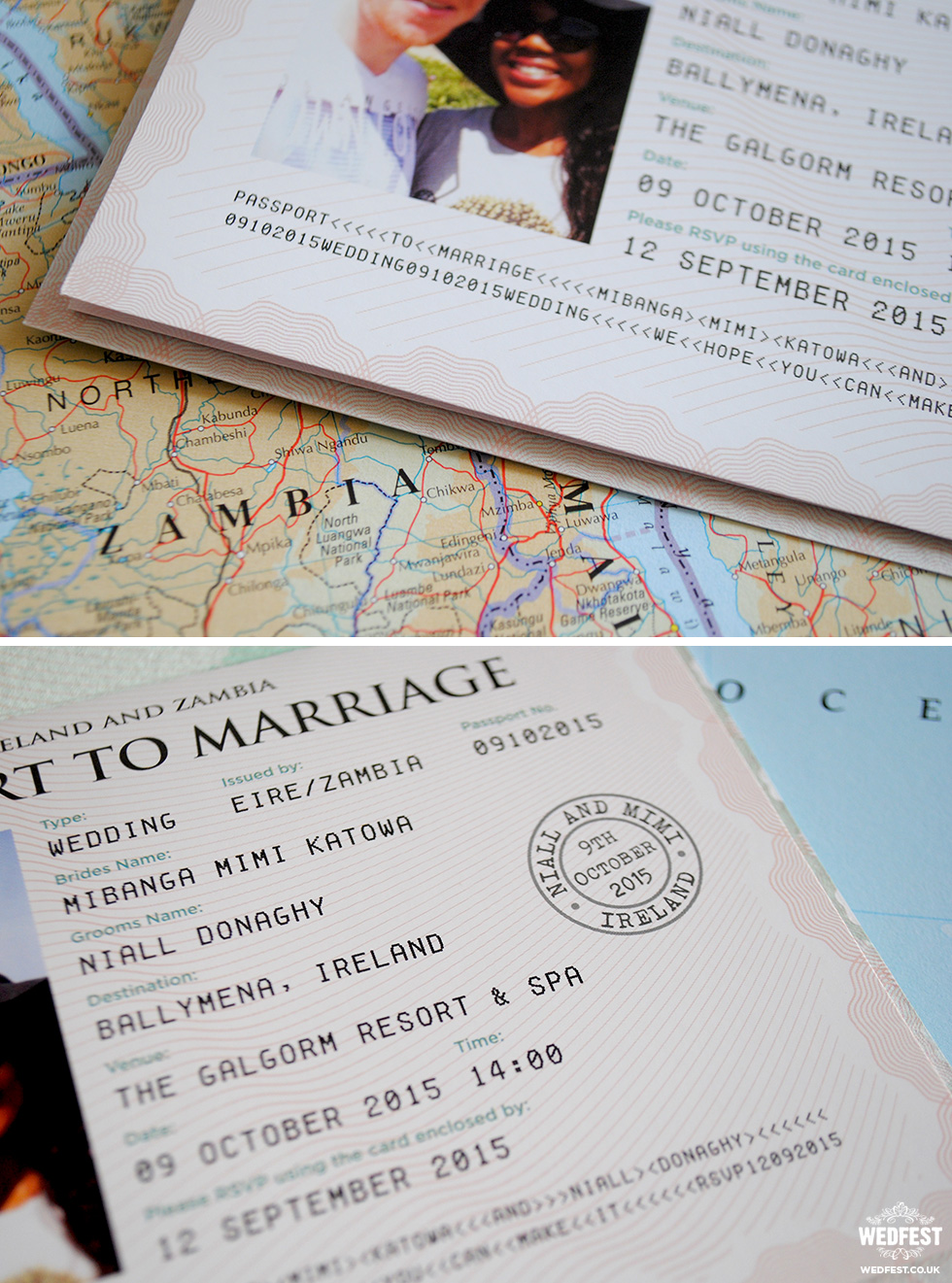 Passport Wedding Invitations | WEDFEST