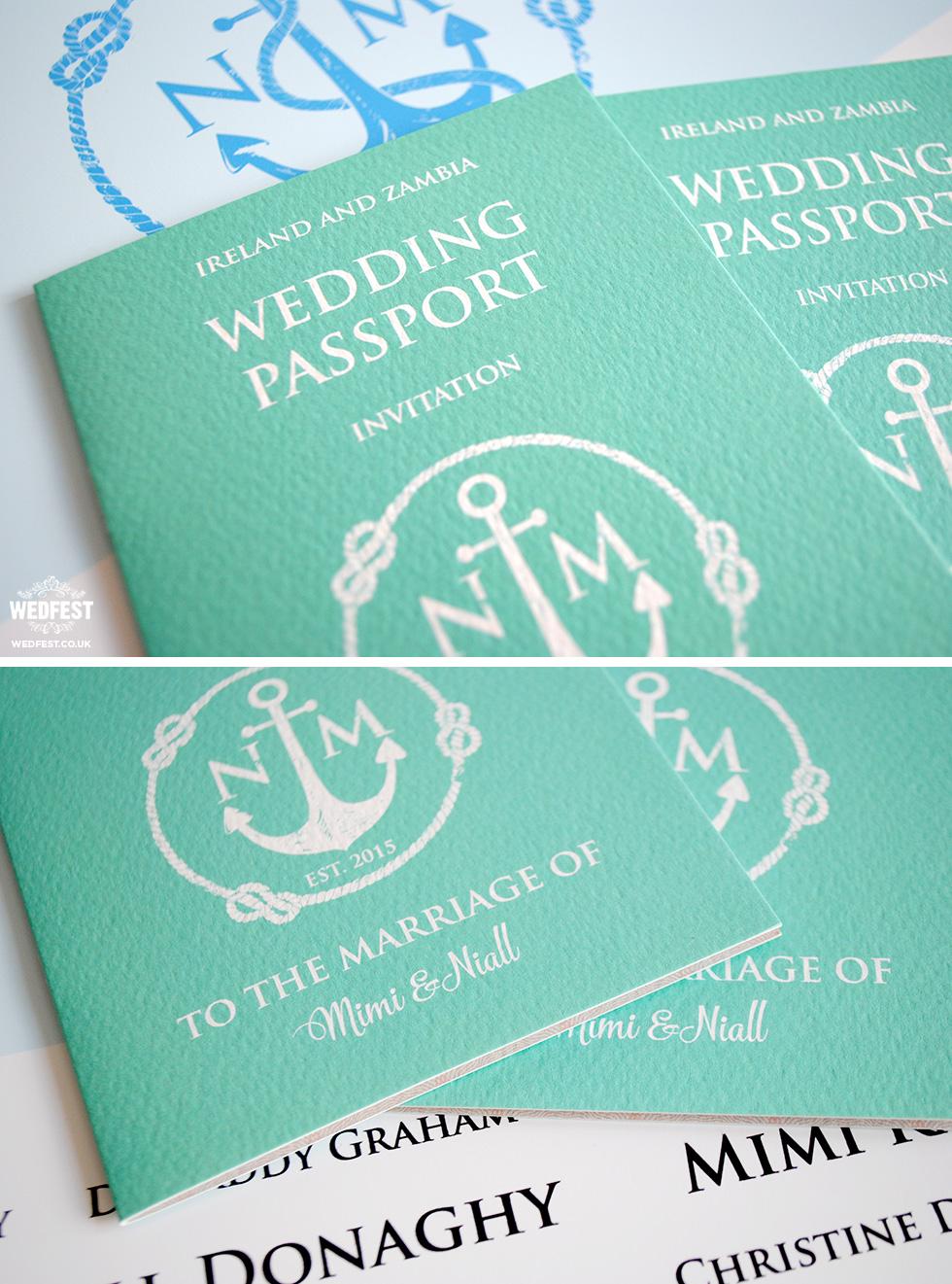 passport themed wedding invitation