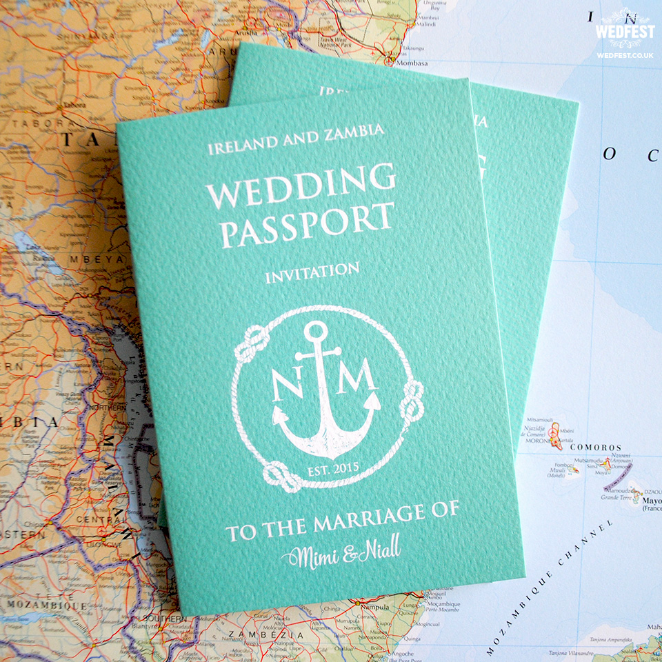 Invitation Ideas For Wedding: Passport Wedding Invitations