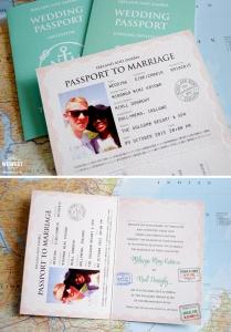 passport to marriage wedding invitation