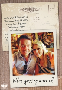 polaroid photo wedding save the date cards