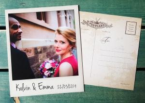 polaroid wedding cards