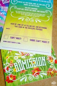 Wedding Admission Ticket RSVP Cards