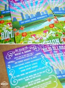 music festival wedding invites