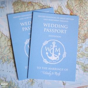 passport wedding invites