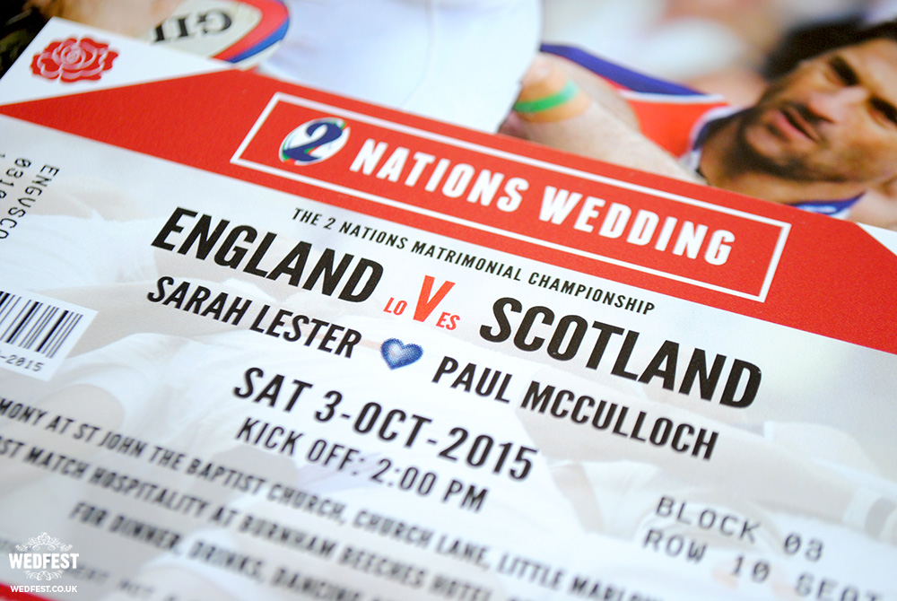rugby wedding invitations
