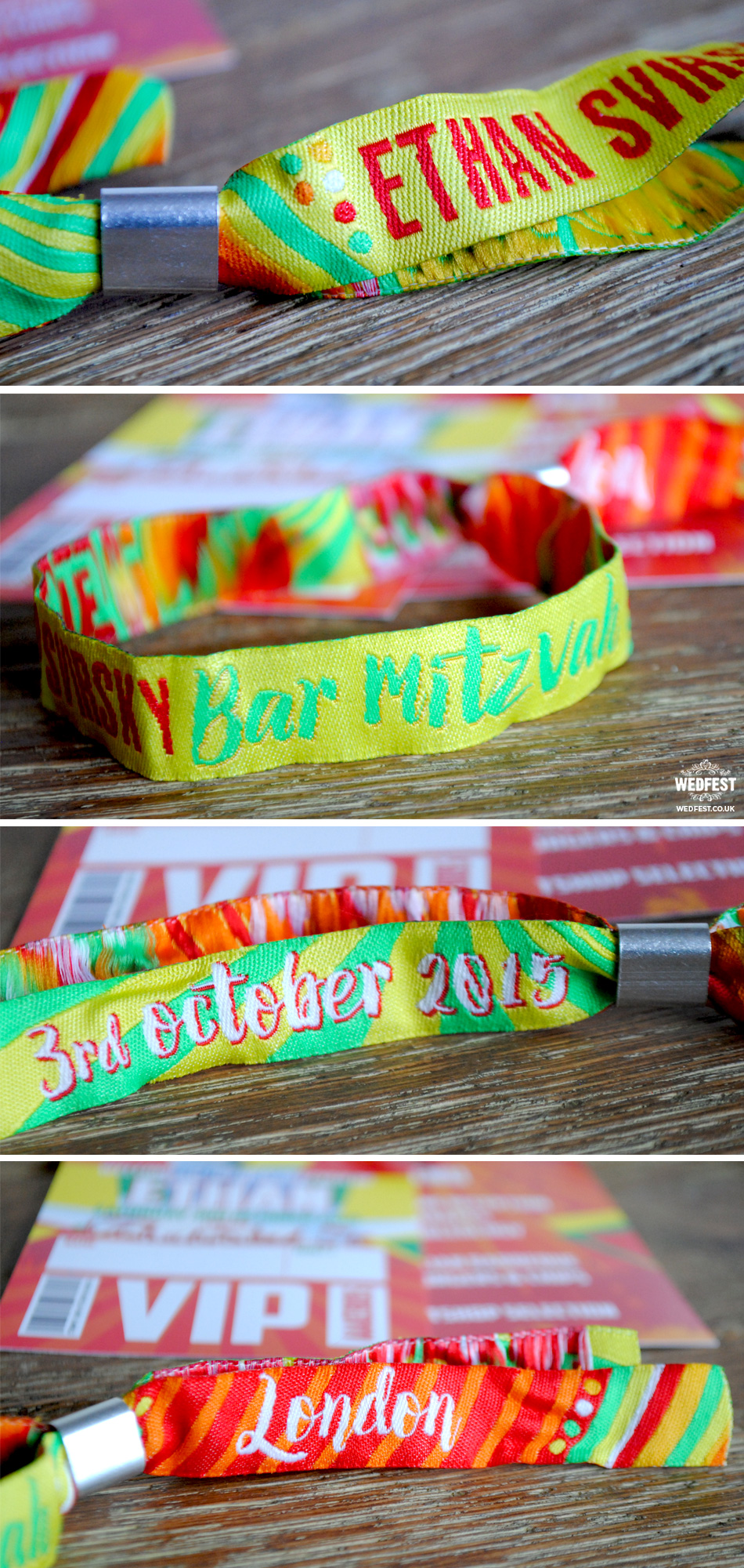 bat bar mitzvah wristbands