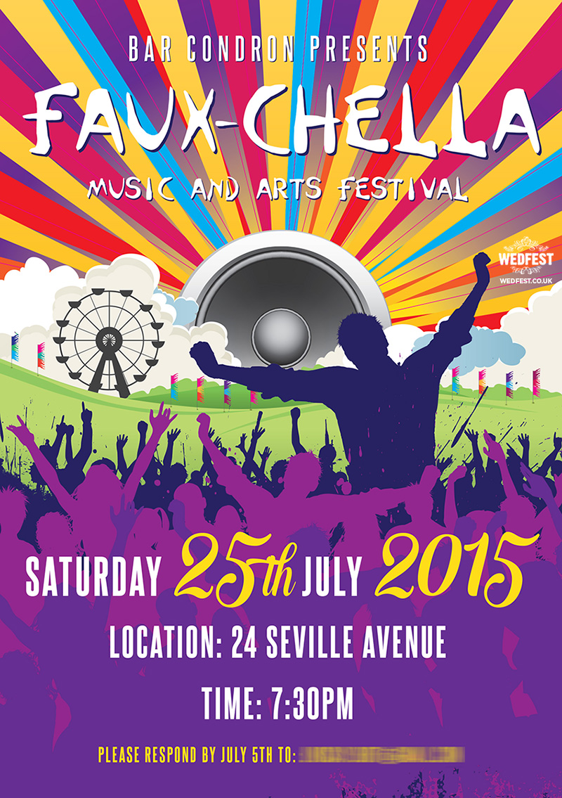 Faxuchella Themed Party Invite