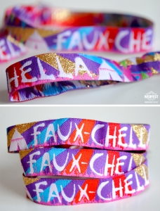 custom fabric festival party wristbands
