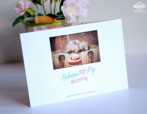 custom wedding thank you cards