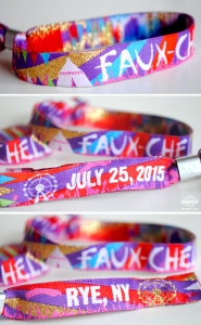 fauxchella birthday party wristbands