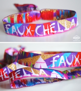 fauxchella festival party wristbands