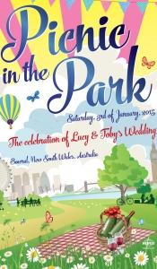 London Picnic theme wedding