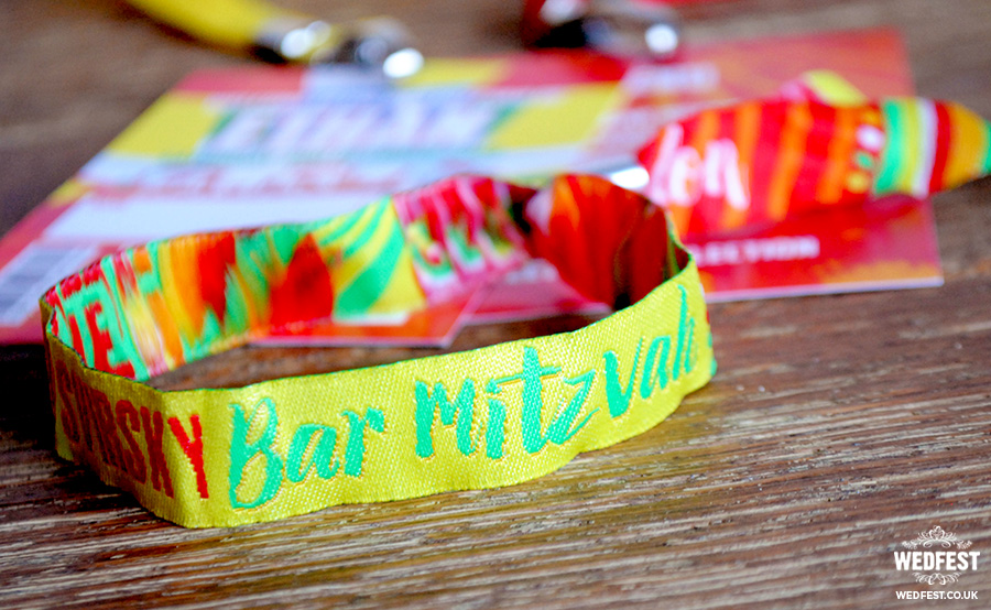 personalized bar mitzvah wristbands favours