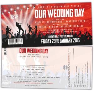 concert gig ticket wedding invitations