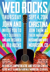concert poster wedding invitation