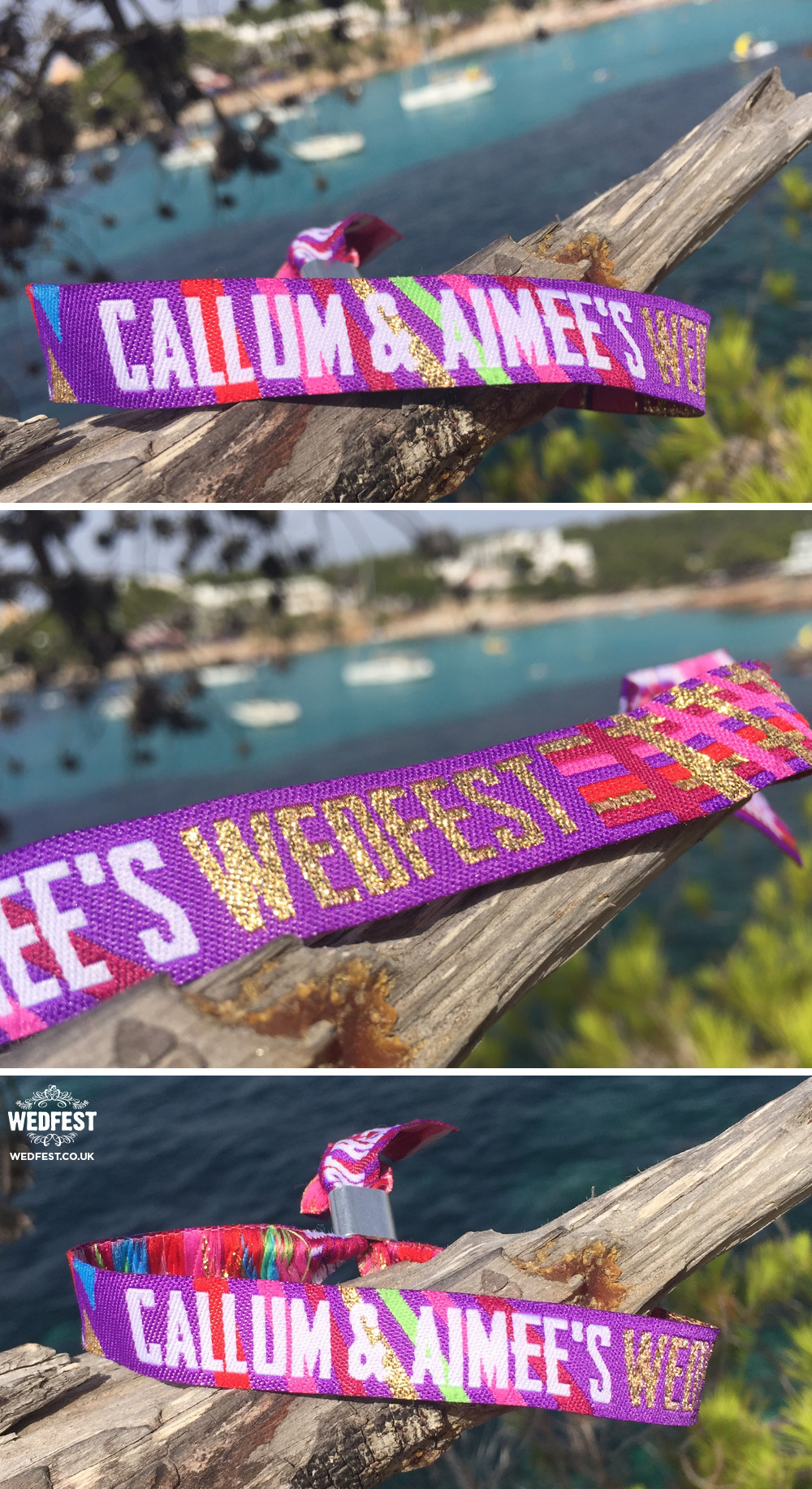 Custom Wedfest Wristbands