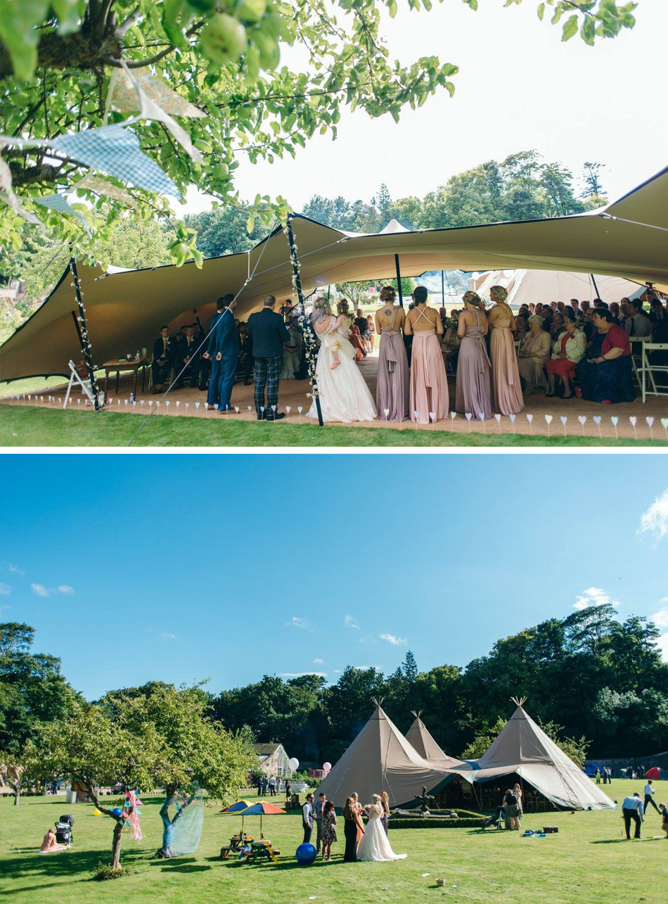 festival wedding tipi ceremony
