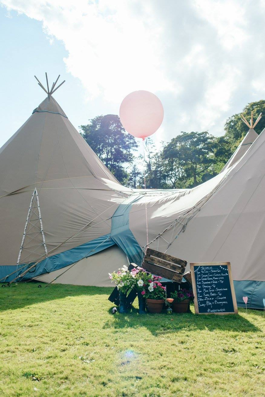 festival wedding tipi
