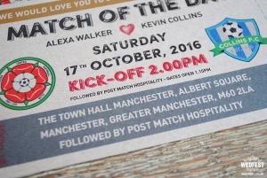football soccer wedding invitations