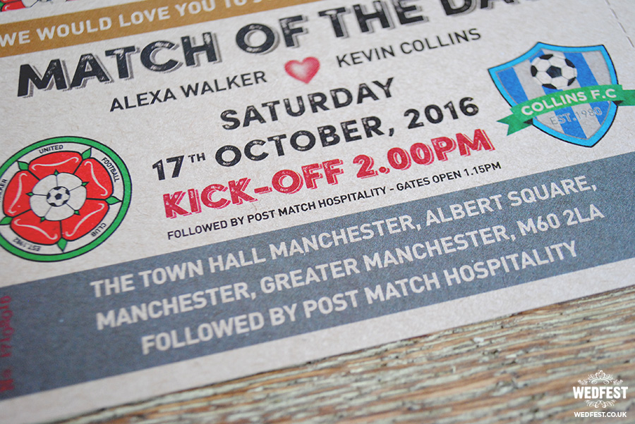 football soccer wedding invitations
