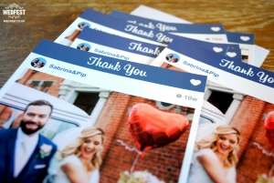 instagram photo wedding thank you card