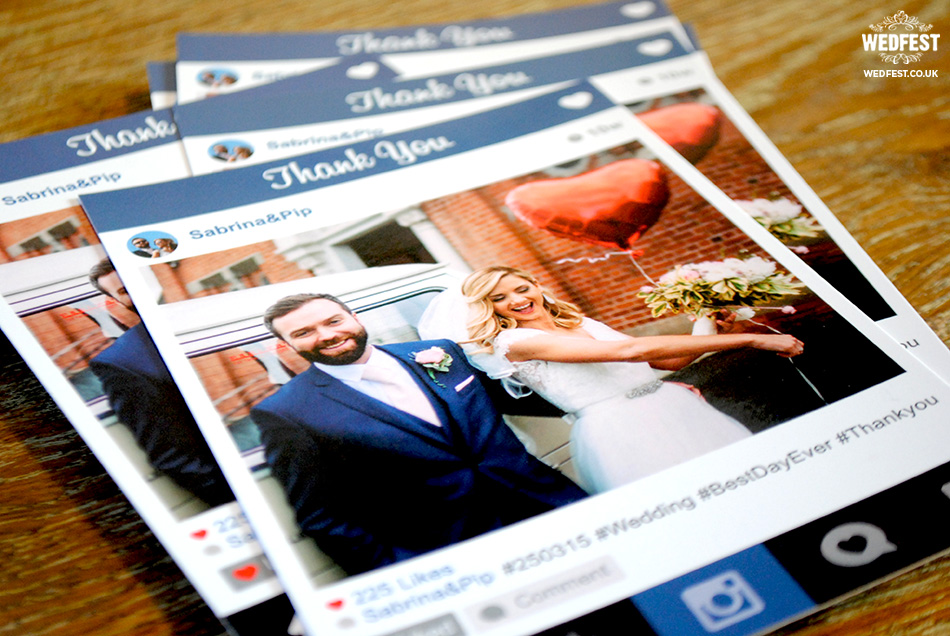 instagram theme thank you cards