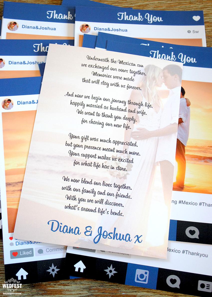 instagram wedding cards