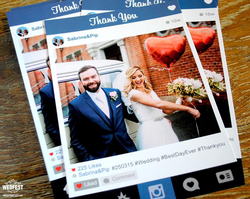 Instagram Wedding Thank You Cards